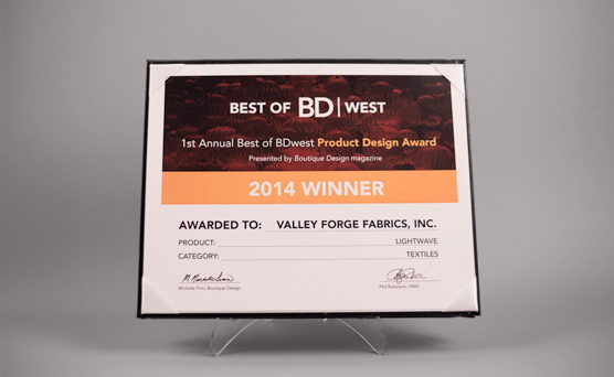 1st Annual Best of BD WEST Product Design Award