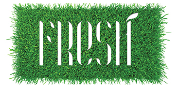 Grass with the word FRESH cut out in the center